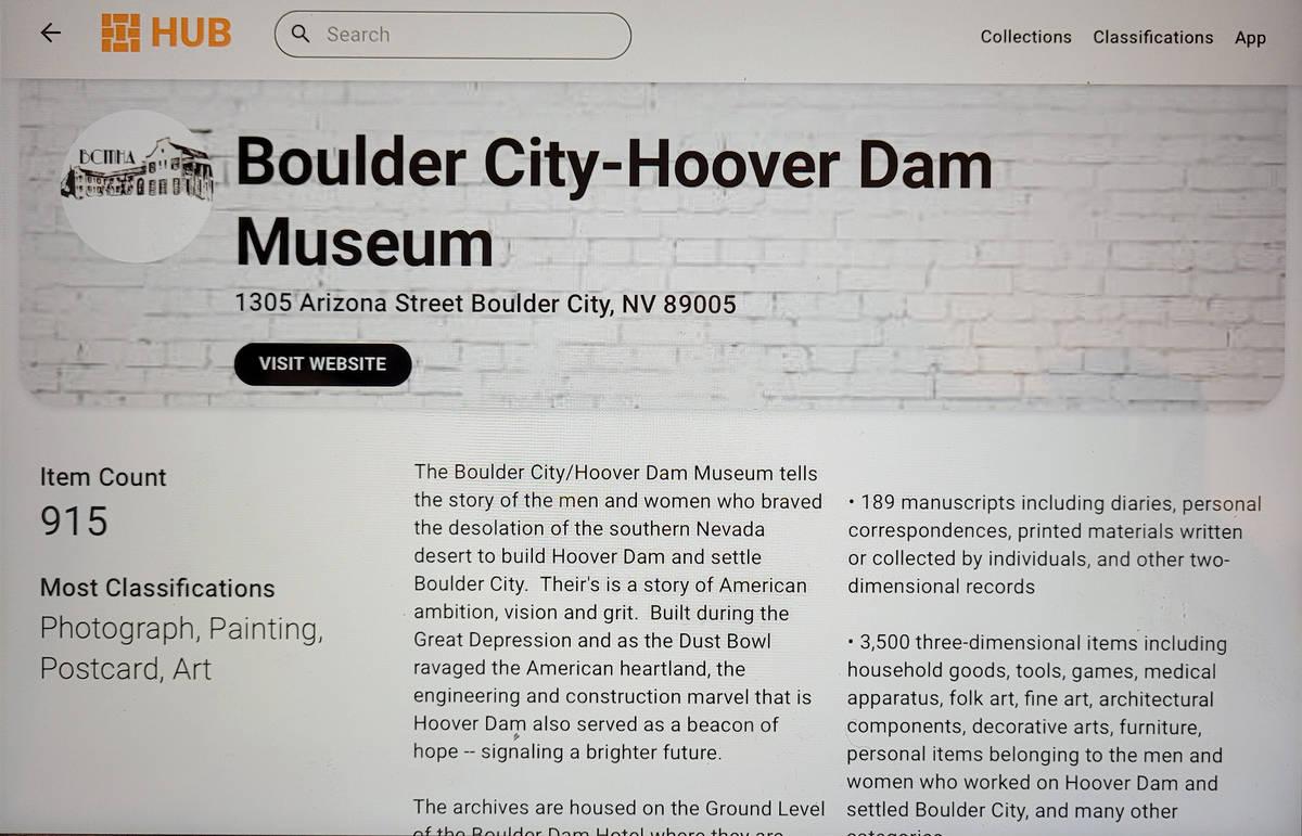 Celia Shortt Goodyear/Boulder City Review The Boulder City-Hoover Dam Museum has launched a ne ...