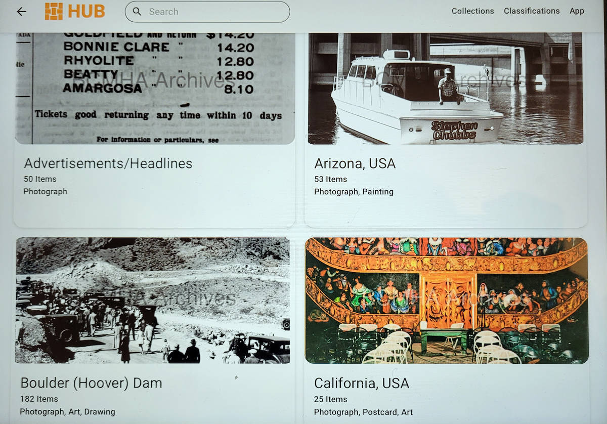Celia Shortt Goodyear/Boulder City Review The materials in the Boulder City-Hoover Dam Museum's ...