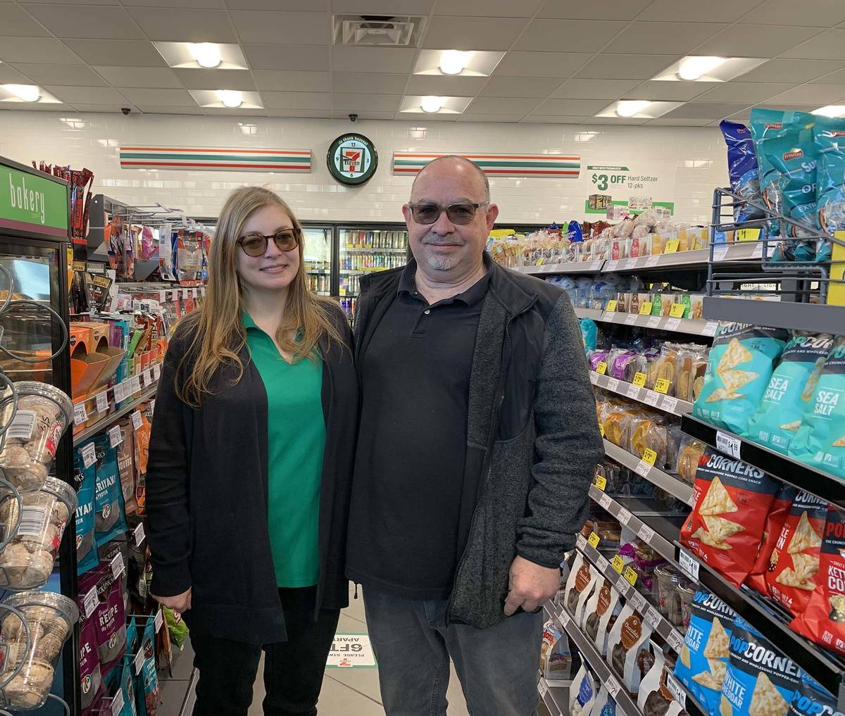 (Hali Bernstein Saylor/Boulder City Review) Amy and Tom Carvalho opened their new 7-Eleven at 1 ...