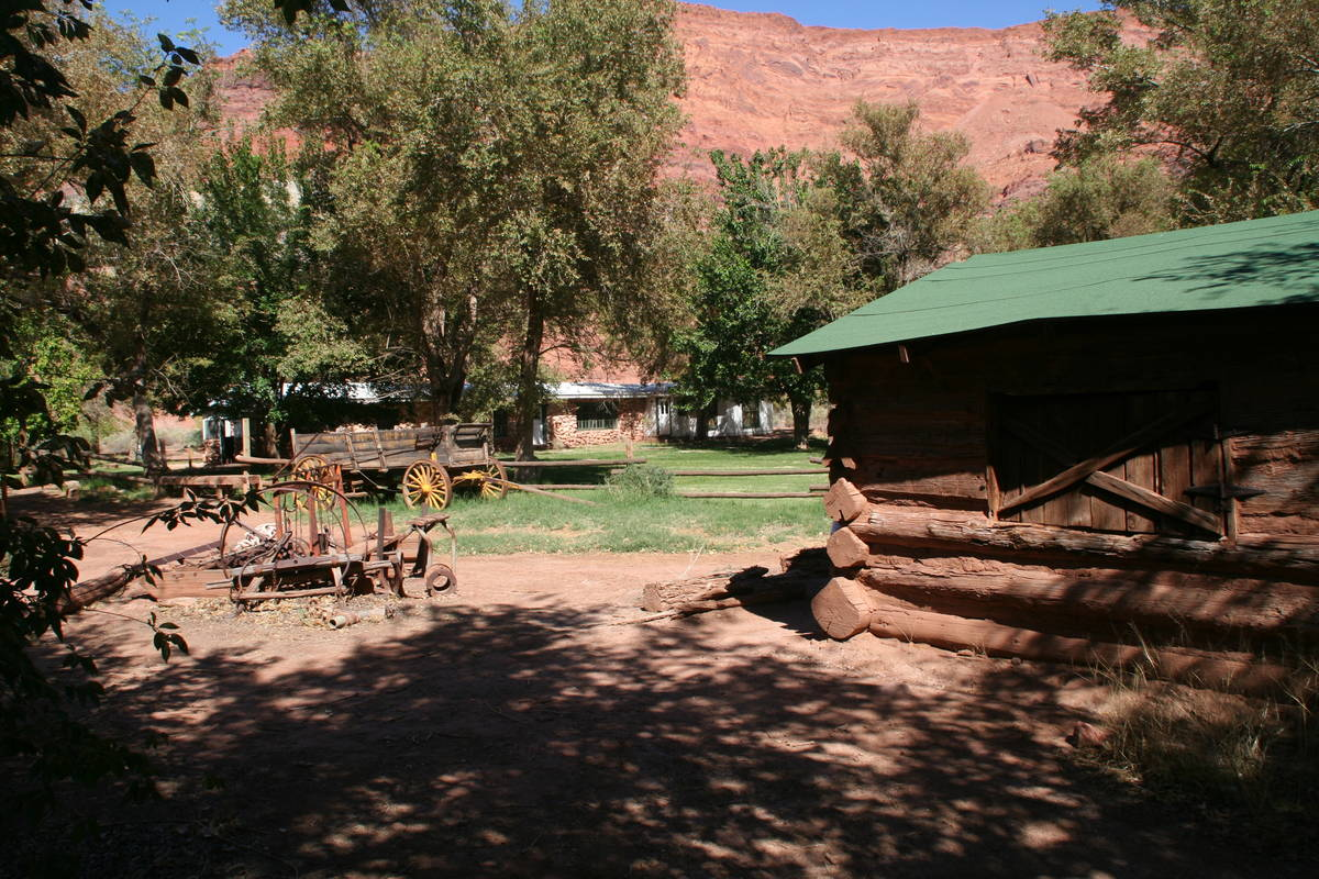 (Deborah Wall) The 160-acre Lonely Dell Historic Ranch at Lees Ferry, Arizona, has been mainta ...