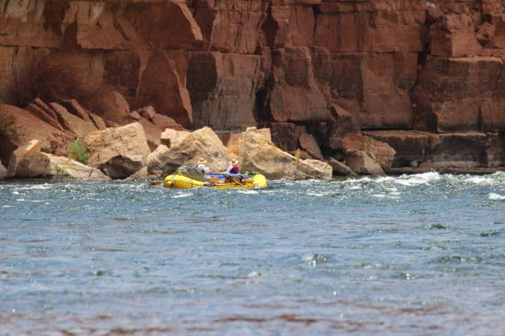 (Deborah Wall) Lees Ferry in Arizona is the launching place for rafters heading down the Color ...