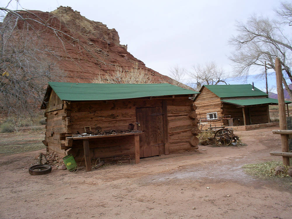 (Deborah Wall) A variety of outbuildings can be found at Lonely Dell Ranch Historic Site at Lee ...