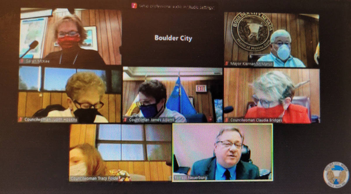 Celia Shortt Goodyear/Boulder City Review City Council is moving forward with a background chec ...