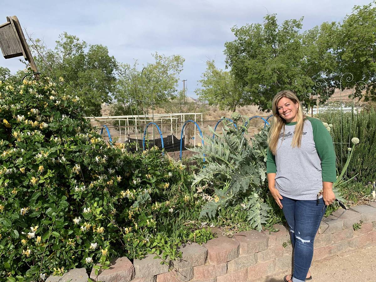 (Hali Bernstein Saylor/Boulder City Review) Wendy Wilson, assistant manager of Garden Farms of ...