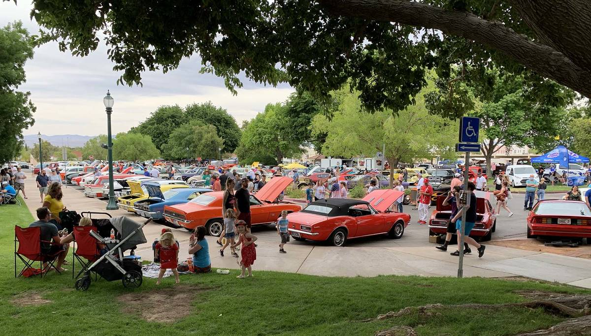 (Hali Bernstein Saylor/Boulder City Review) Cars in every color of the rainbow and of every mak ...