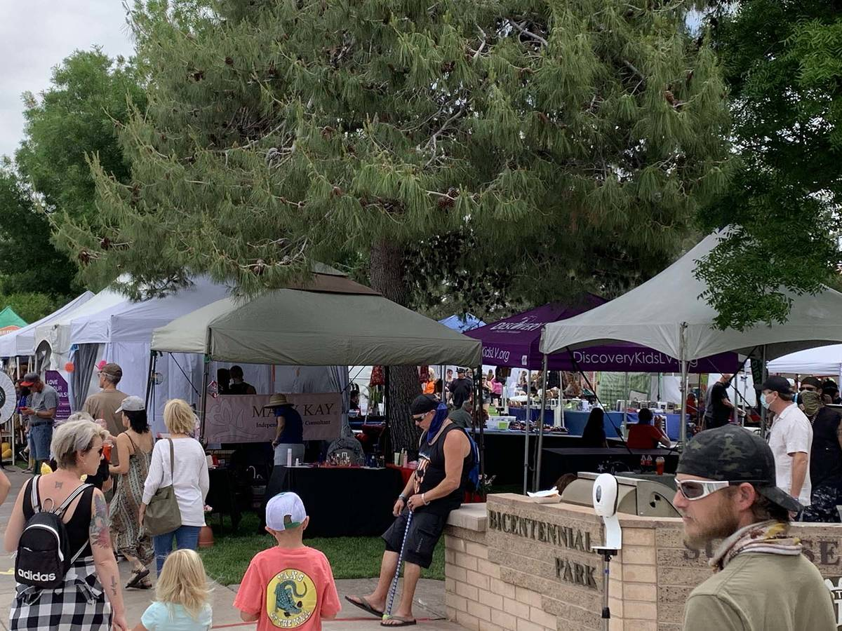 (Hali Bernstein Saylor/Boulder City Review) A business expo was part of the Spring Jamboree pre ...