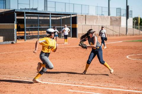 (Jamie Jane/Boulder City Review) Boulder City High School's softball team has a 4-2 record so f ...
