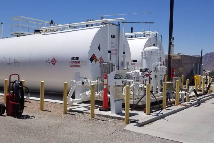Boulder City Municipal Airport City Council introduced a bill for new fuel standards for the Bo ...