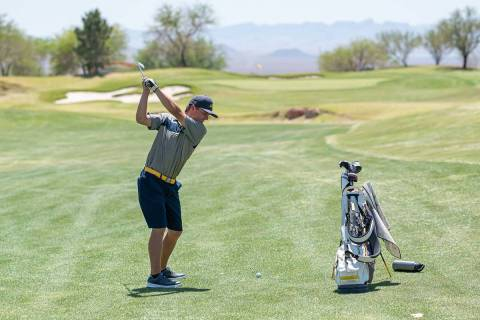 (Jamie Jane/Boulder City Review) Boulder City High School senior Blake Schaper had the top scor ...