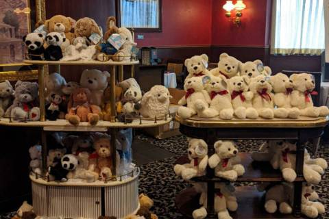 (Boulder Business Development) More than 50 stuffed animals were donated by members of the Boul ...