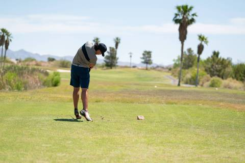 (Jamie Jane/Boulder City Review) Senior Kyle Carducci placed second overall, shooting 147, 3 ov ...
