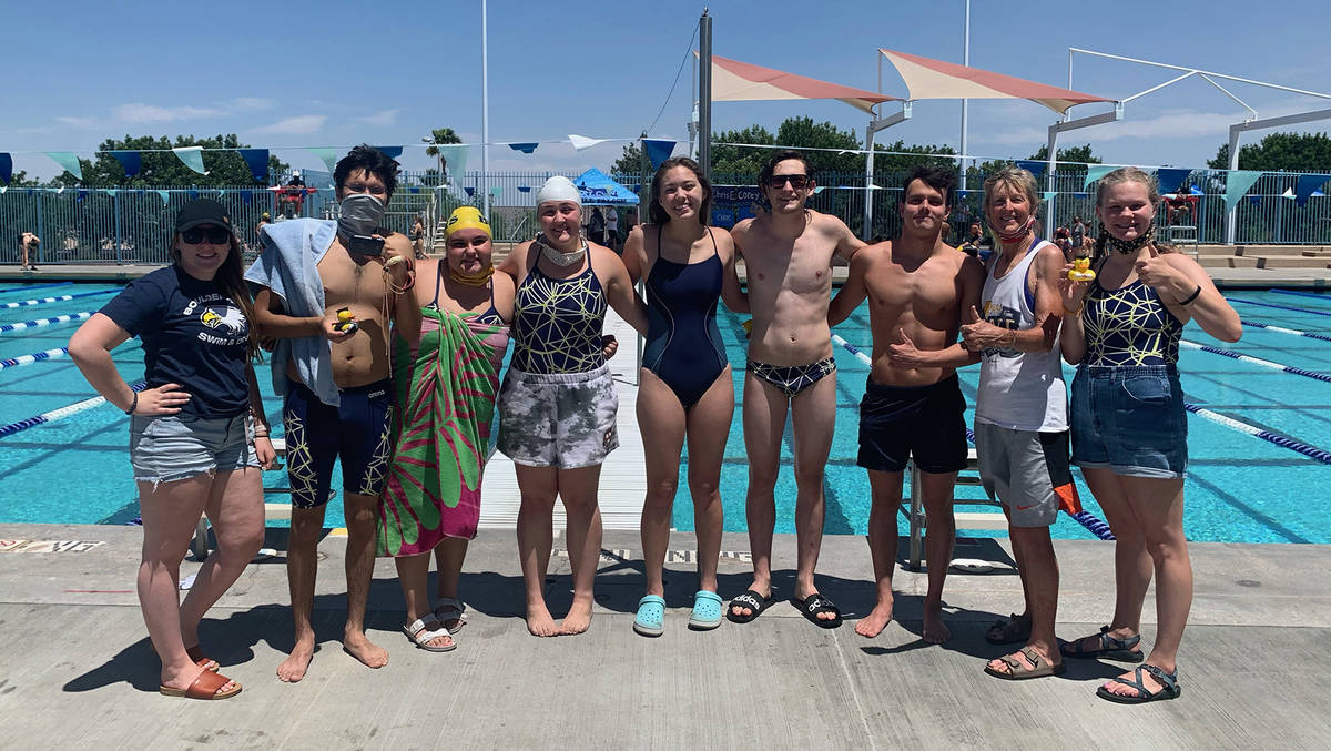 (Boulder City High School) Seniors from Boulder City High School celebrate their last regular h ...