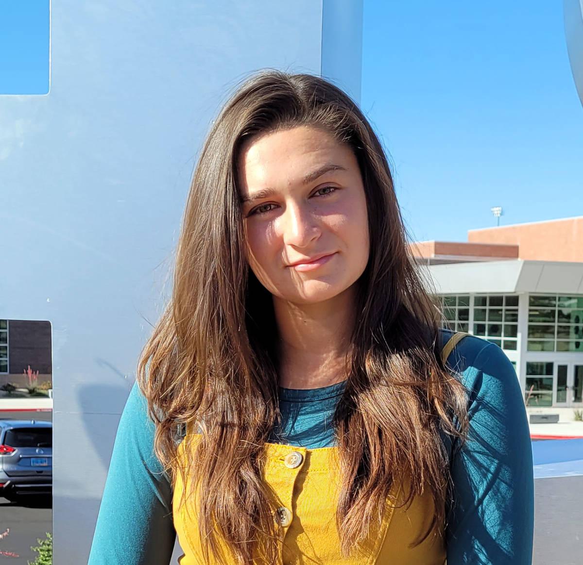(Celia Shortt Goodyear/Boulder City Review) Sophie Dickerman, salutatorian