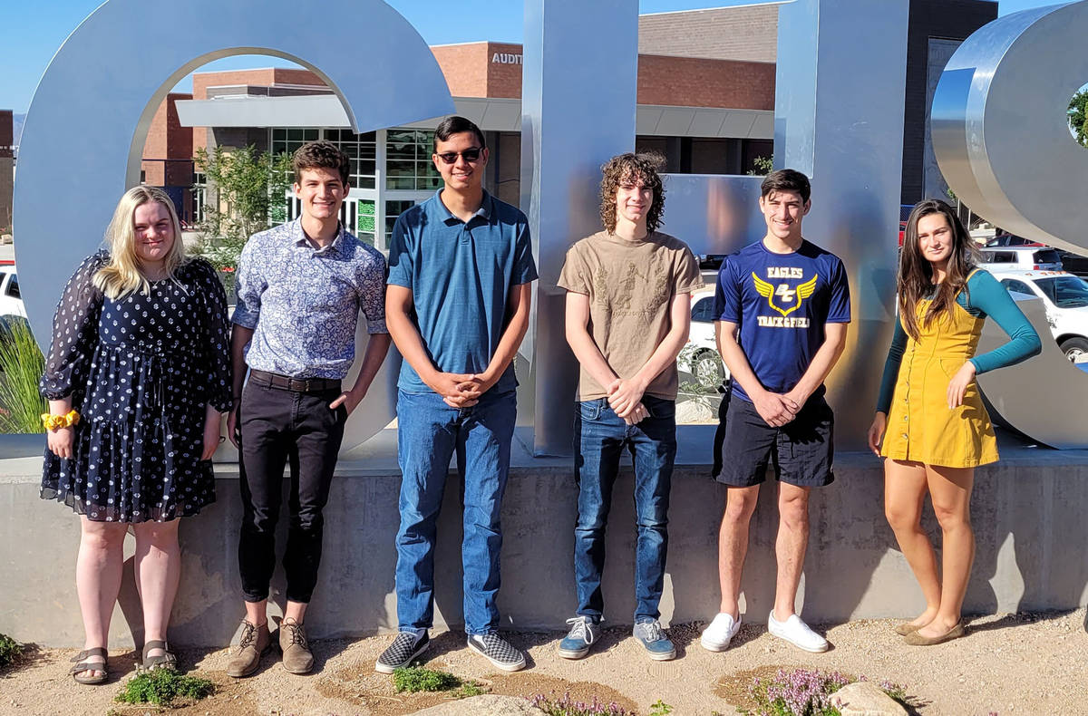 Celia Shortt Goodyear/Boulder City Review Leaders of the Boulder City High School's class of 20 ...