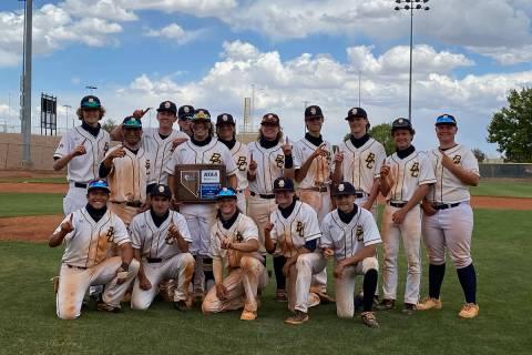 (Amy Wagner) Boulder City High School's boys varsity baseball team was crowned the regional c ...