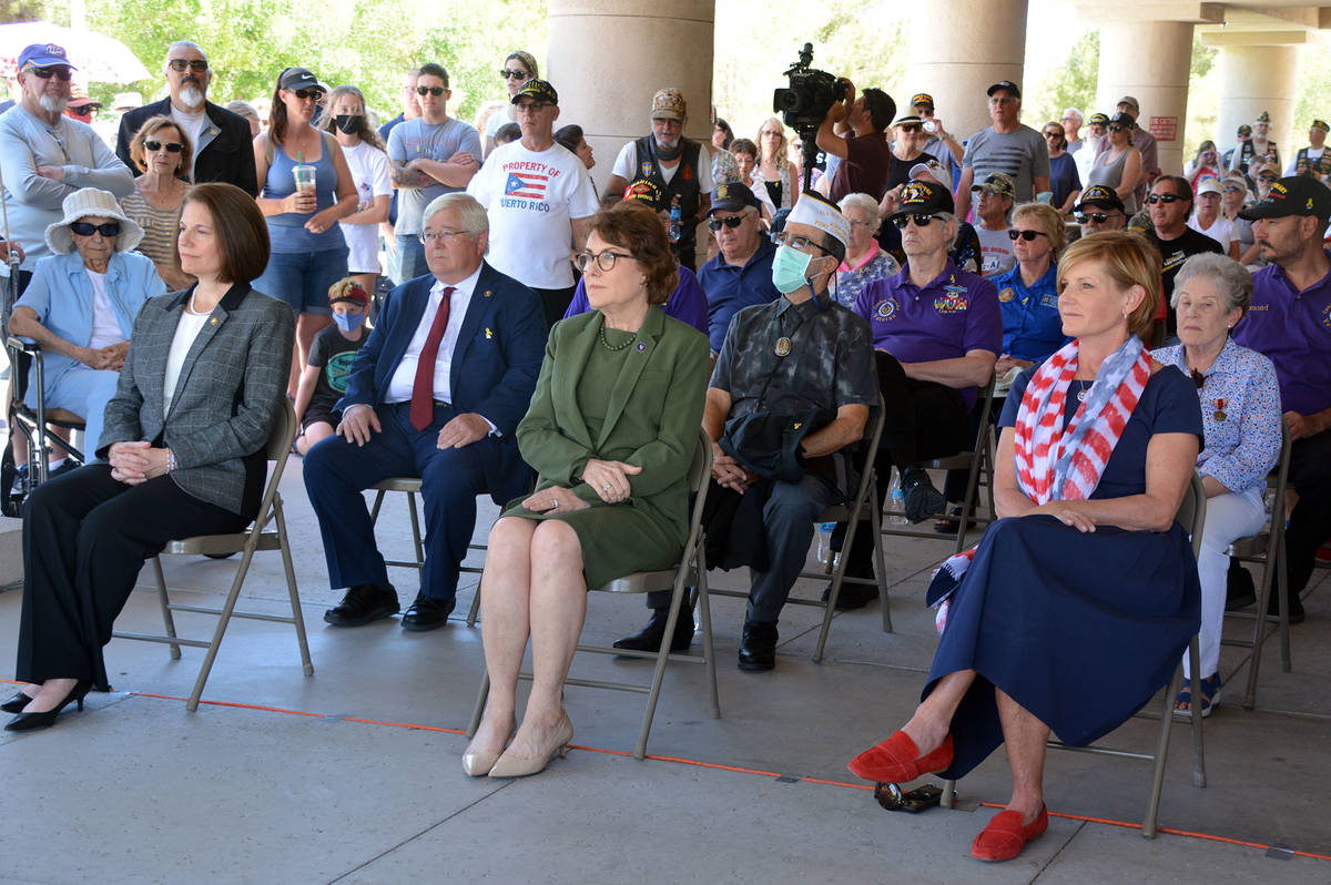 Celia Shortt Goodyear/Boulder City Review The Memorial Day ceremony Monday, May 31, at the Sout ...