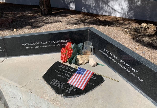 (Hali Bernstein Saylor/Boulder City Review) Special mementos were placed at the memorial at the ...