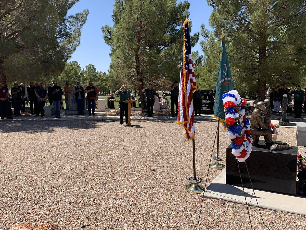 (Hali Bernstein Saylor/Boulder City Review) Members of the Special Forces Association, Chapter ...