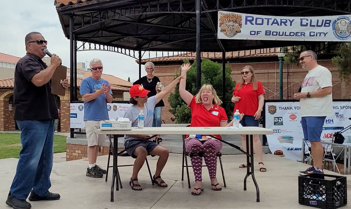 Celia Shortt Goodyear/Boulder City Review Rotary Club of Boulder City member Larry Archuleta, s ...
