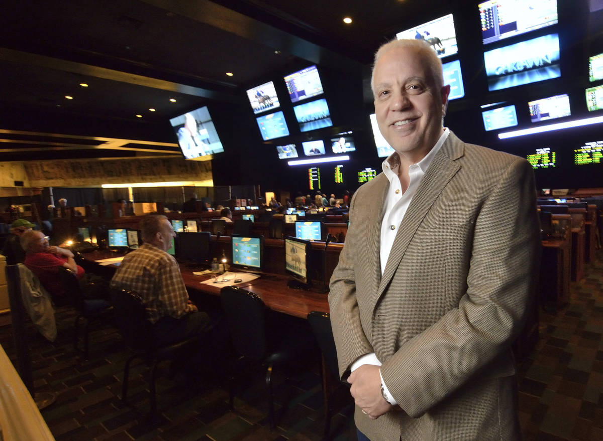 Art Manteris of Boulder City, at the newly renovated race and sportsbook at Boulder Station in ...