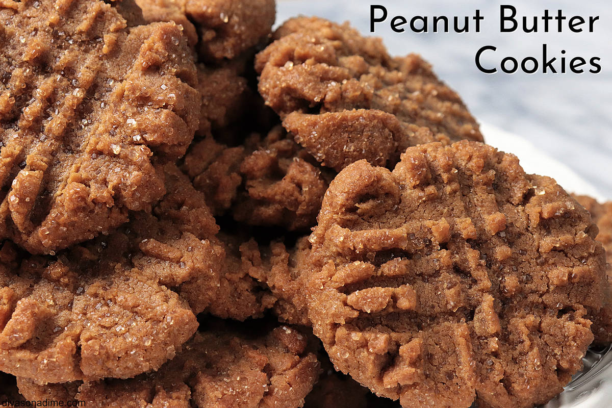 (Patti Diamond) These flourless peanut butter cookies take only five ingredients to make. Its s ...