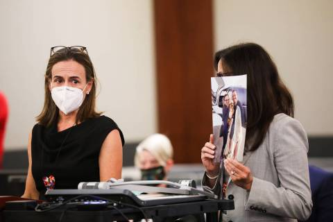 (Rachel Aston/Las Vegas Review-Journal) Donna Trauger, wife of victim Tom Trauger, one of five ...