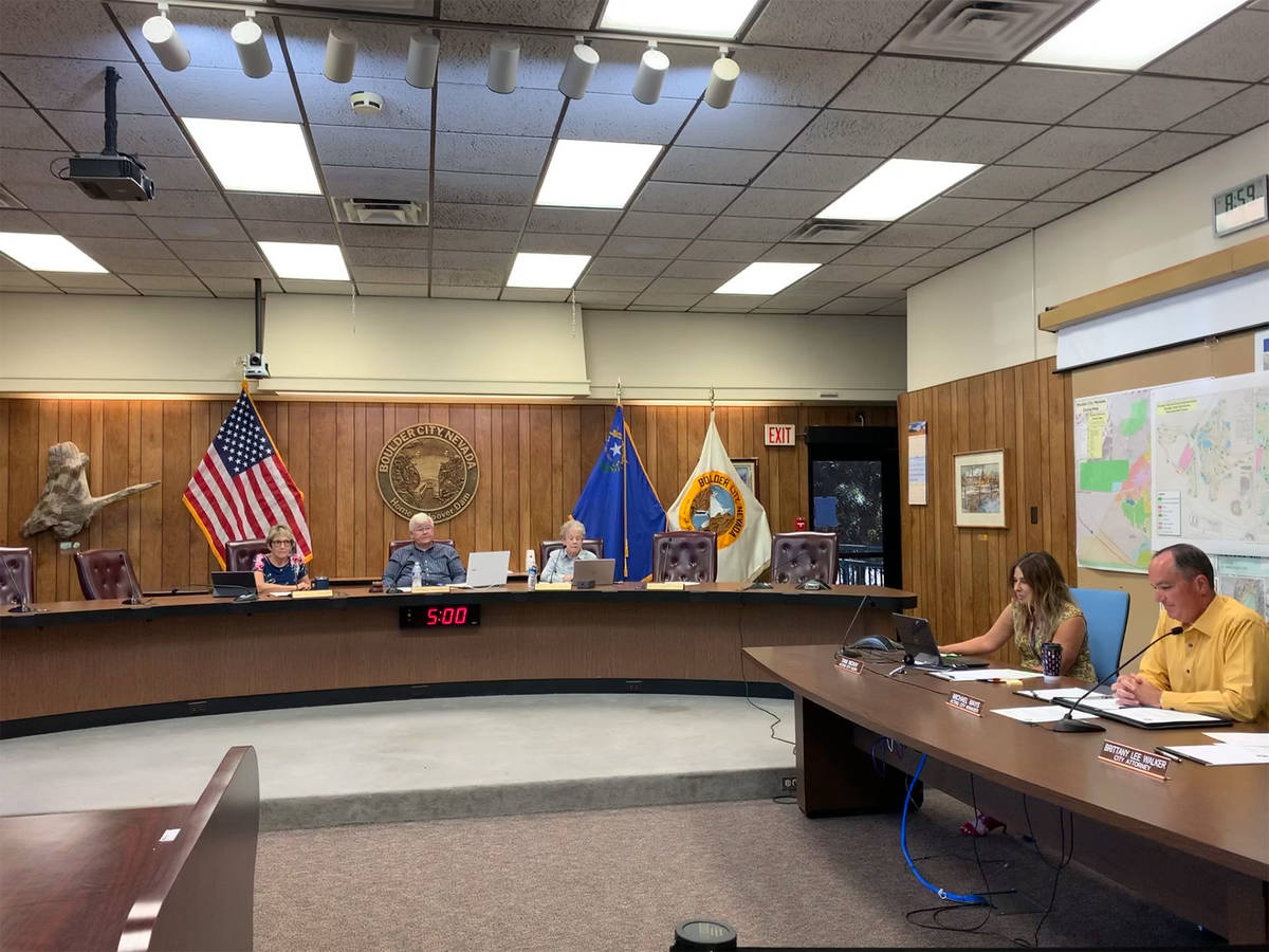 (Hali Bernstein Saylor/Boulder City Review) Council chambers inside City Hall will undergo reno ...
