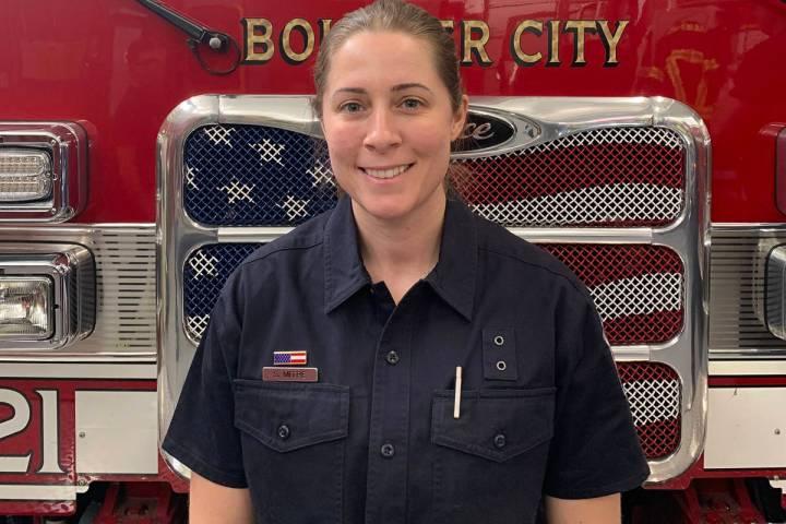 Boulder City reserve firefighter Sarah Mitre