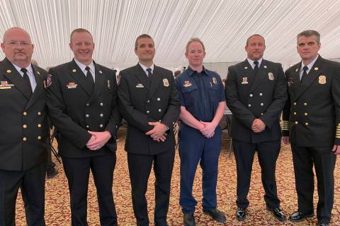 (Hali Bernstein Saylor/Boulder City Review) Boulder City Fire Department presented awards to, f ...