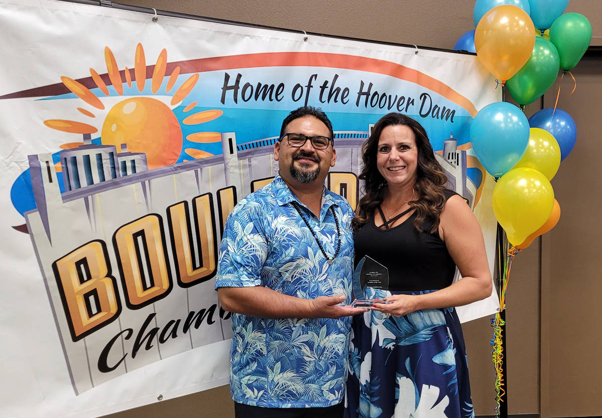 (Pam Leon/Boulder City Chamber of Commerce) Don and Laurie Rodriquez of Superior Builders were ...