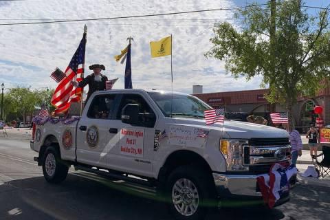 (Hali Bernstein Saylor/Boulder City Review) American Legion Post 31 of Boulder City celebratate ...