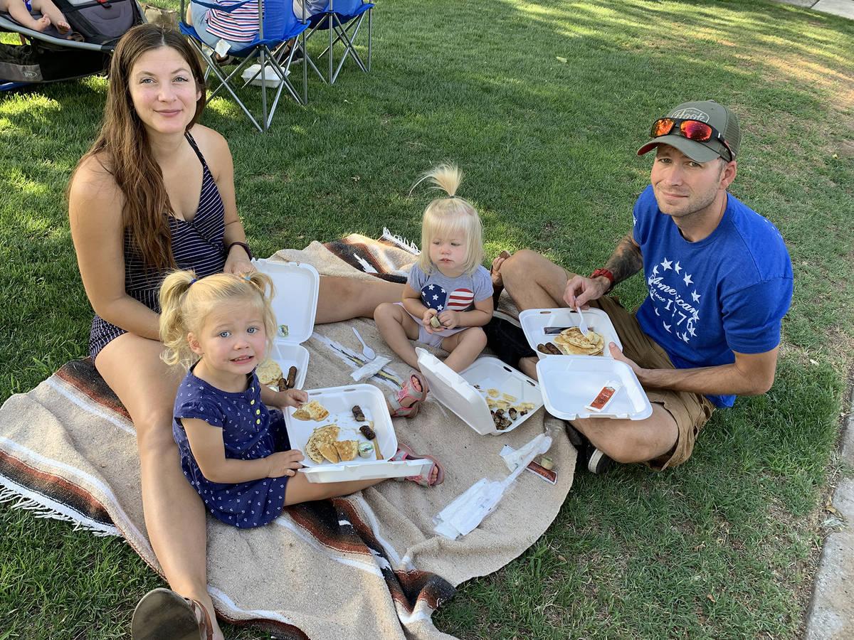 (Hali Bernstein Saylor/Boulder City Review) The Ruby family, from left, Jennifer, Blake, Edith ...