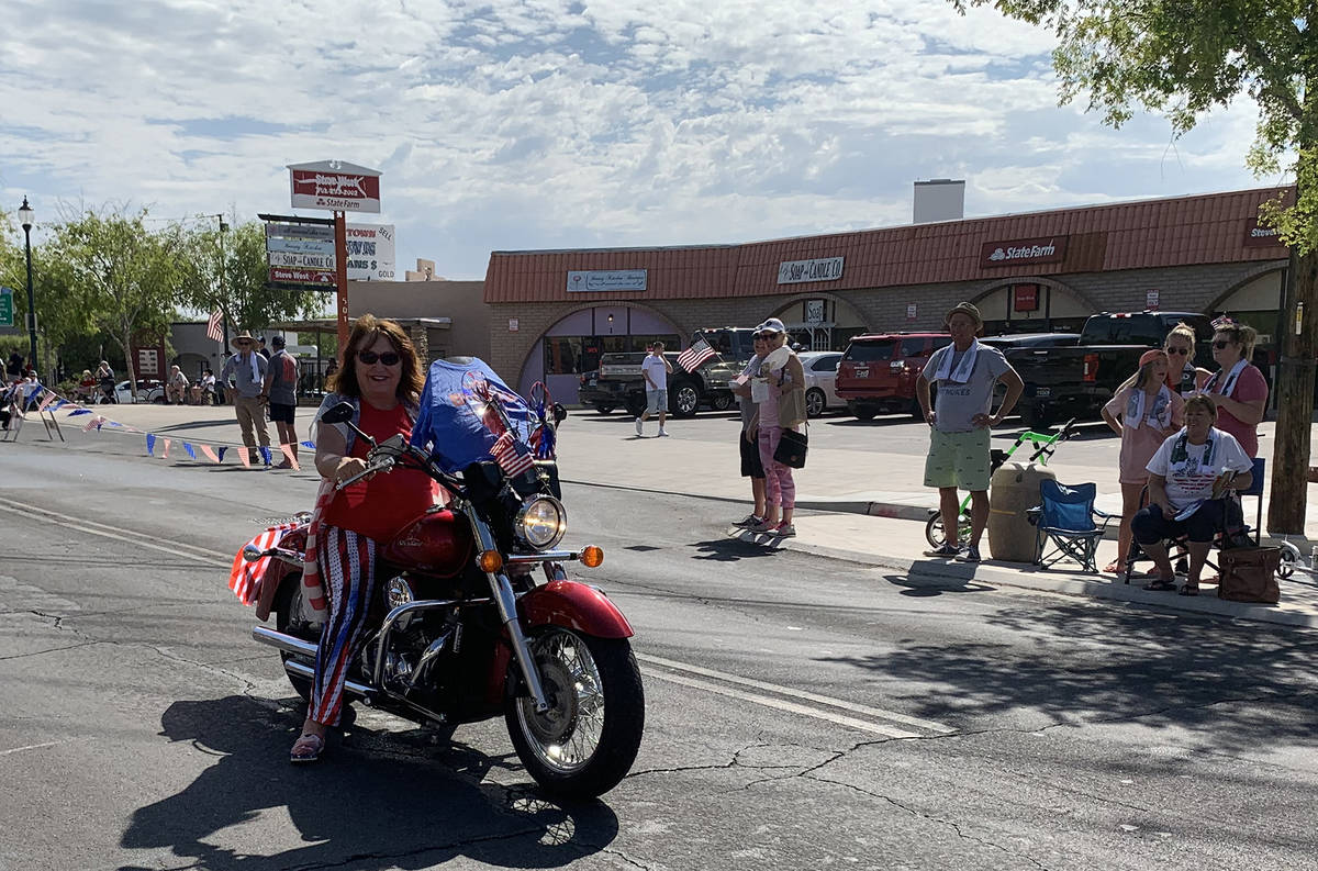 (Hali Bernstein Saylor/Boulder City Review) A motorcyclist was among the participants of Saturd ...