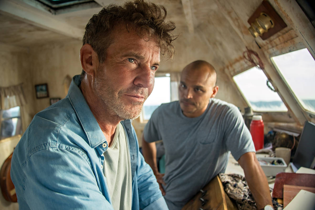 (Carlos Rodriguez/Netflix) Dennis Quaid, left, stars as Captain Wade Malloy and Jimmy Gonzales ...
