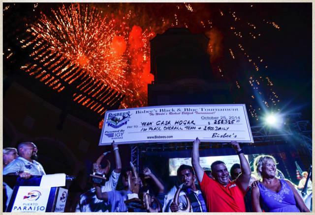 (Donna Saunders) Members of Team Casa Hogar celebrate winning Bisbee's Black & Blue fishing t ...