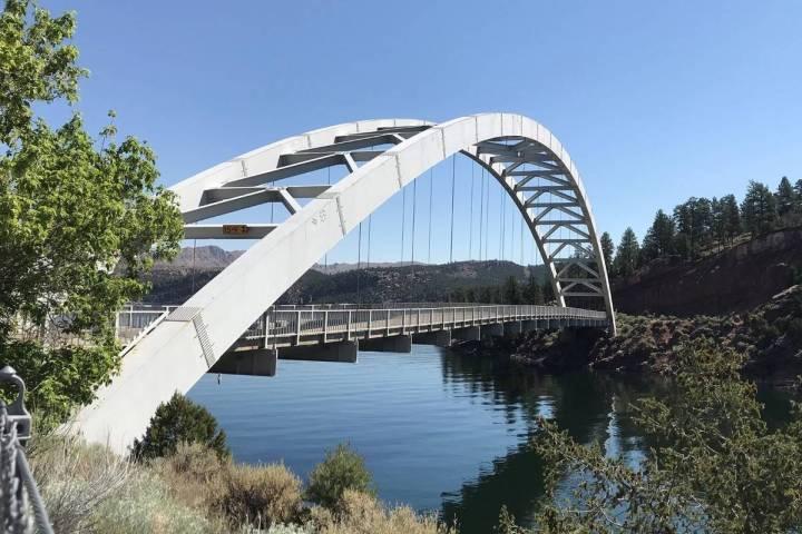 (Deborah Wall) The Cart Creek Bridge spans a lovely side canyon of Flaming Gorge near Dutch Joh ...