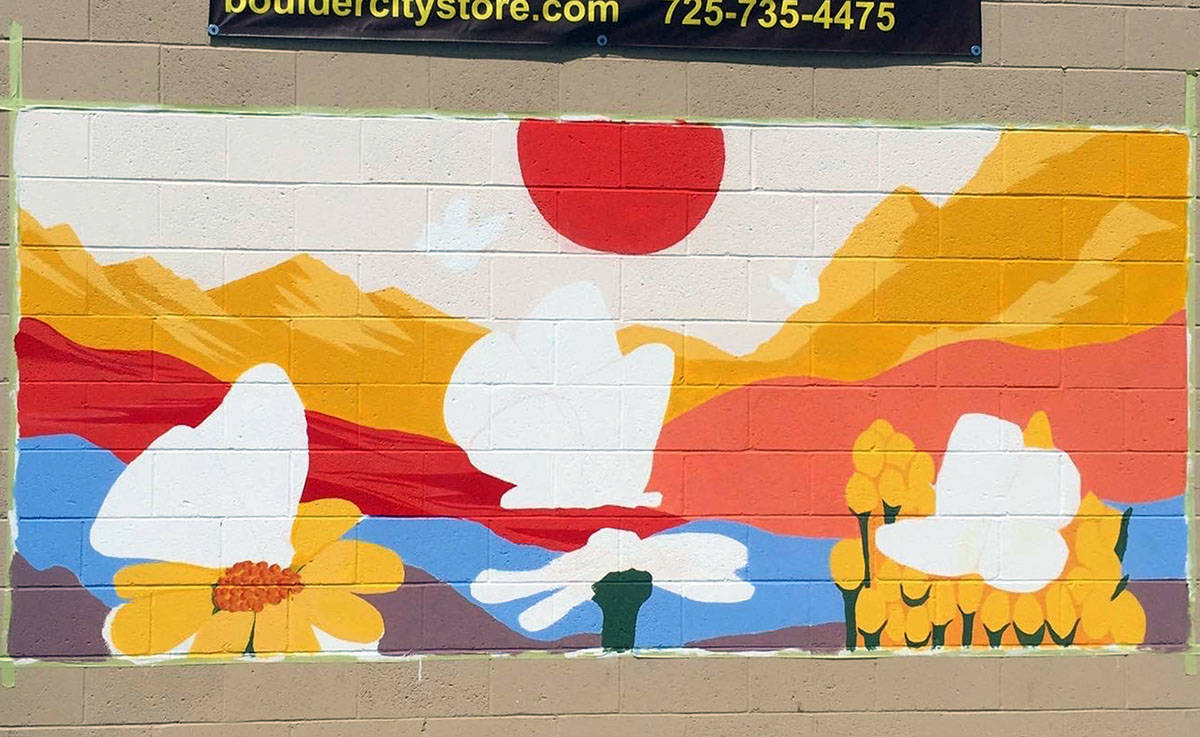 America Grafton This mural at the Boulder City Co. Store is the first done by the Mojave Art Co ...