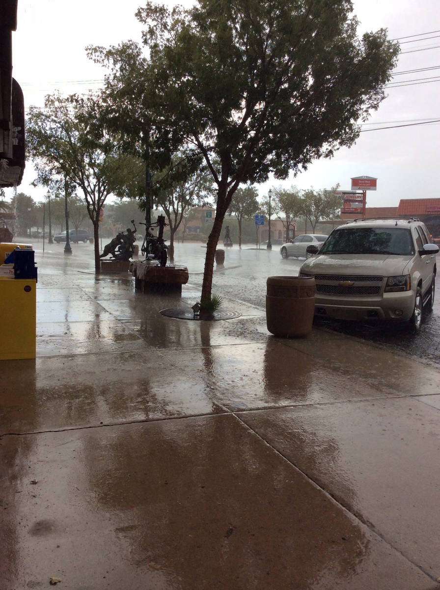 Chances of rain and thunderstorms are forecast through Saturday evening and the National Weathe ...
