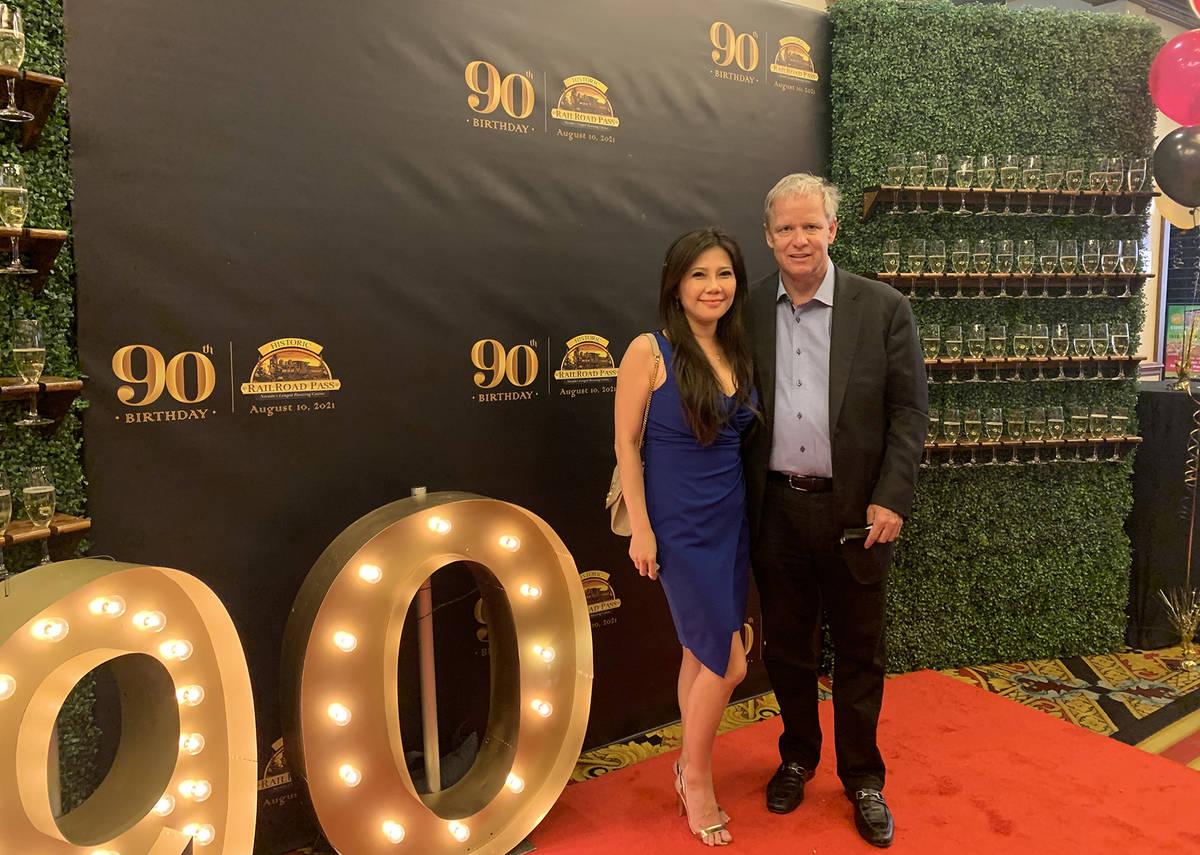 (Hali Bernstein Saylor/Boulder City Review) Joe DeSimone, owner of Railroad Pass, and his girlf ...