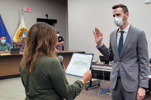 Celia Shortt Goodyear/Boulder City Review Boulder City's new city manager, Taylour Tedder, is s ...