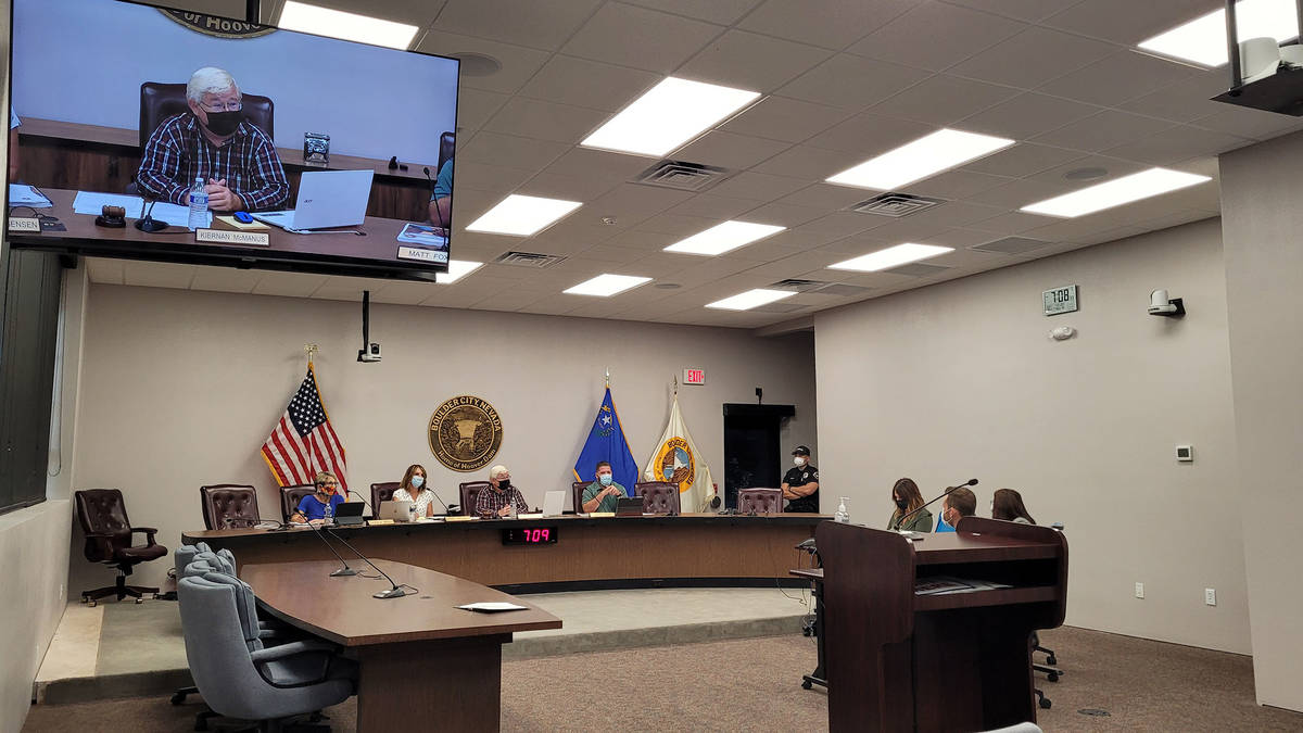 Celia Shortt Goodyear/Boulder City Review Tuesday's City Council meeting was the first in the n ...