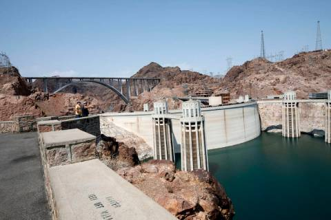 (Chitose Suzuki/Las Vegas Review-Journal) The declining water level of Lake Mead can be seen fr ...