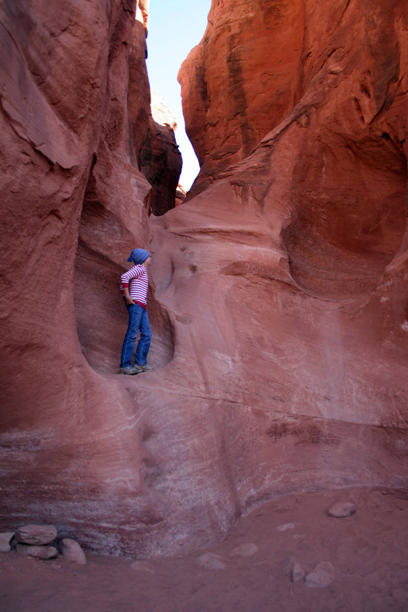 (Deborah Wall) The mouth of Peek-A-Boo Canyon at Grand Staircase Escalante National Monument in ...