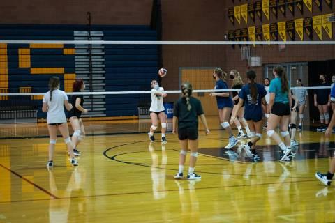 (Jamie Jane/Boulder City Review) Sydnee Freeman, seen in practice Tuesday, Aug. 24, a freshman ...
