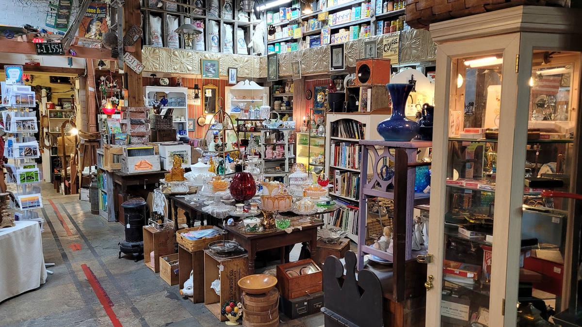 Celia Shortt Goodyear/Boulder City Review Goatfeathers Emporium, 1300 Wyoming St., has many dif ...