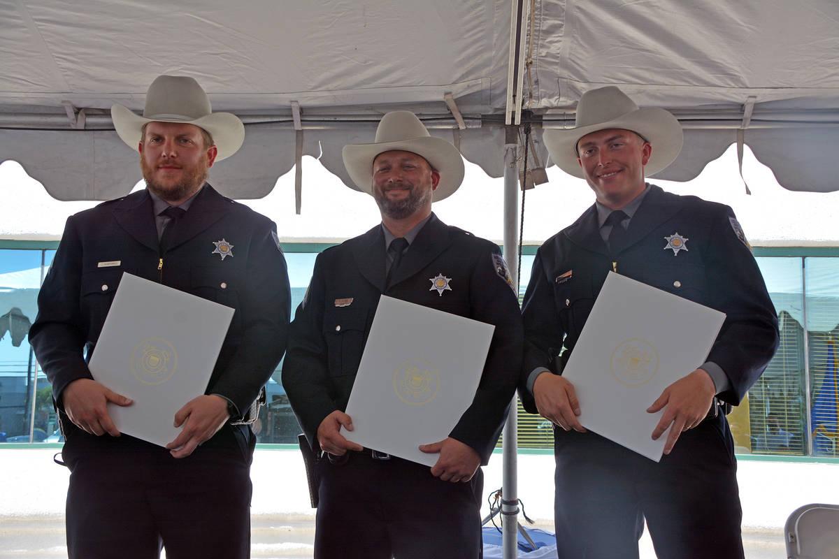 Celia Shortt Goodyear/Boulder City Review The U.S. Coast Guard honored three Nevada game warden ...