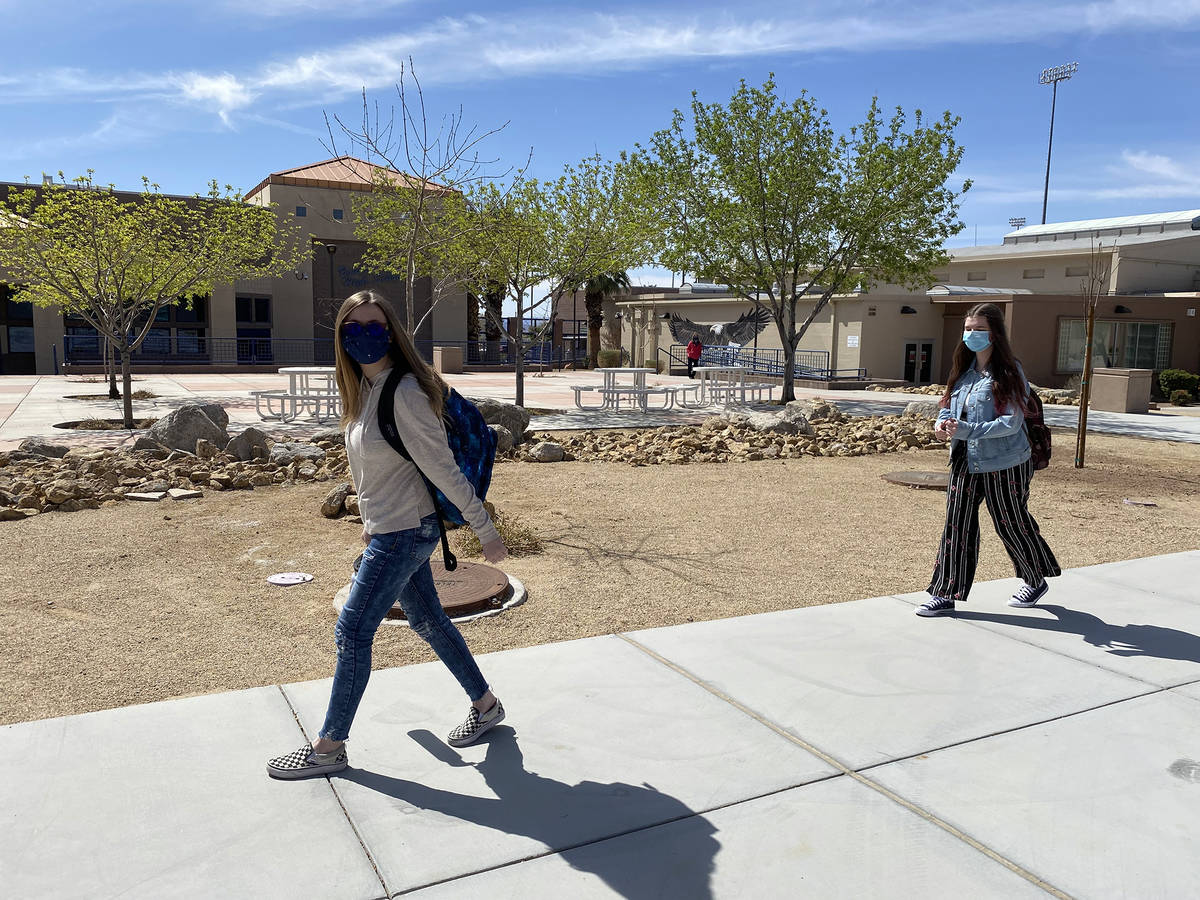 Students in Boulder City are not letting masks and social distancing interfere with their learn ...