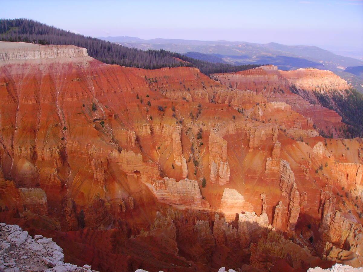 (Deborah Wall) Cedar Breaks National Monument, Utah, features a natural amphitheater, 2,000 fee ...