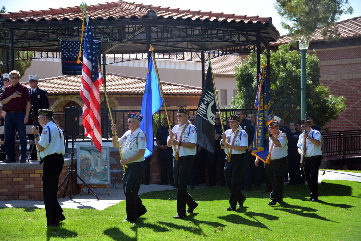 Celia Shortt Goodyear/Boulder City Review Members of Veterans of Foreign Wars, Post 36, color g ...