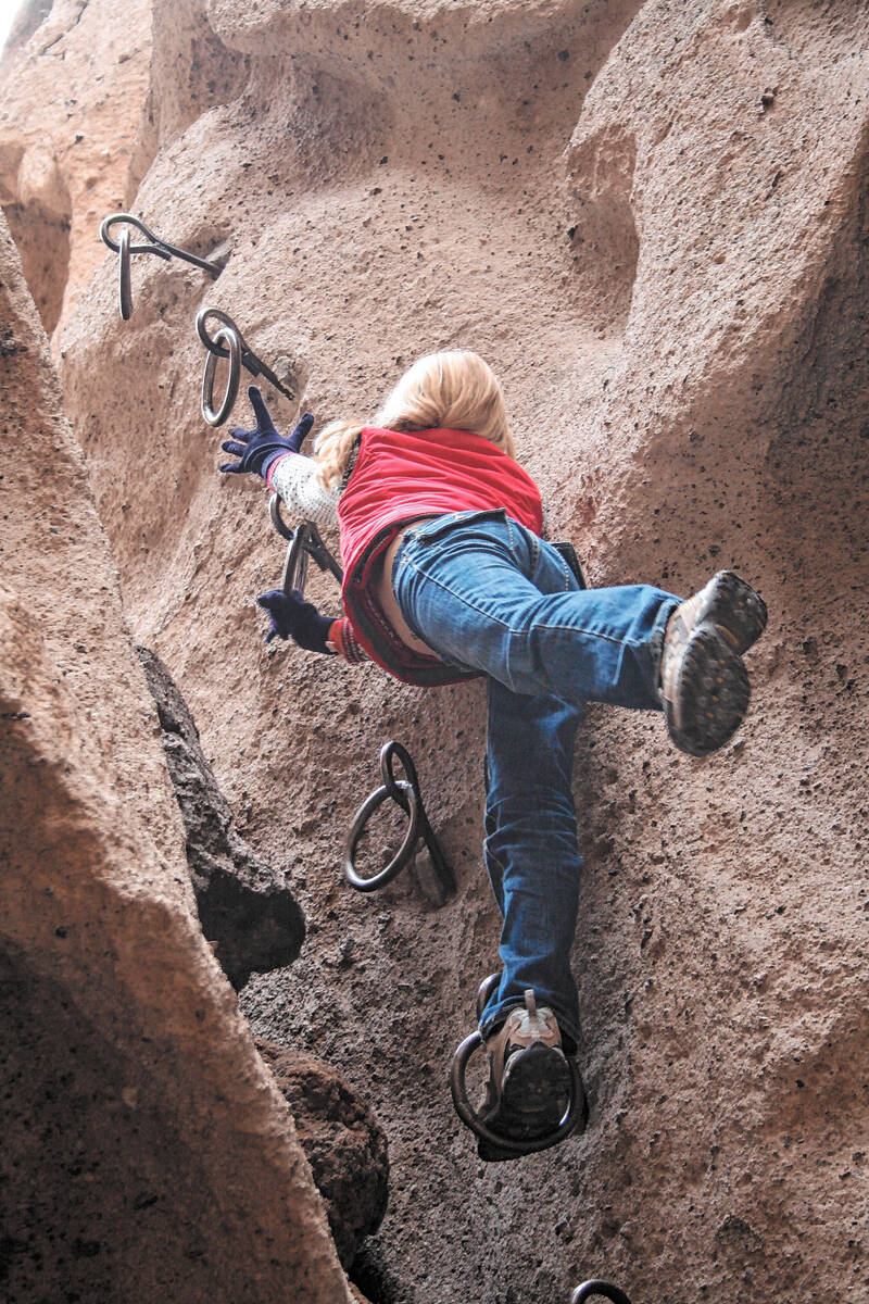 (Deborah Wall) The ringbolts to access Banshee Canyon in the Mojave National Preserve were spac ...